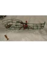 Folk Art GEORGE TIMPANY Duxbury MAss Twisted Wire Sculpture Row Boat & F... - $235.00