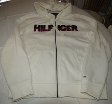 Mens Tommy Hilfiger L large Fleece zip up jacket long slv 78B6449 118 Lines - $63.77