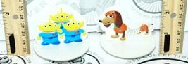 "2 Lot - Slinky Dog Aliens Toy Story 2.25"" Decopac Spin Top Figure Disney Pixar - $3.70"