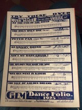 Vintage Sheet Music 1925-The Melody That Made You Mine-Adeld Rowland-Sta... - $5.00
