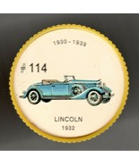1932 LINCOLN Jell-O Picture Wheel #114 - $5.00