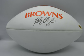 Kelly Holcomb Browns Signed Nfl Official Team Logo Football w/ Coa - $85.50
