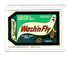 1975 Wacky Packages Original 12th Series *WASH'N FLY* Sticker Card NM - $16.69
