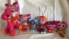 5 LALALOOPSY Soft Rag Dolls Purple Pink Blue Floppy Plush 3 Talk Owl Gir... - $34.99
