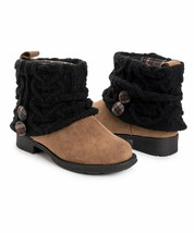MUK LUKS Sand Cable Knit Patti Boot size 9 New in wrap ~ brown memory foam - $42.54
