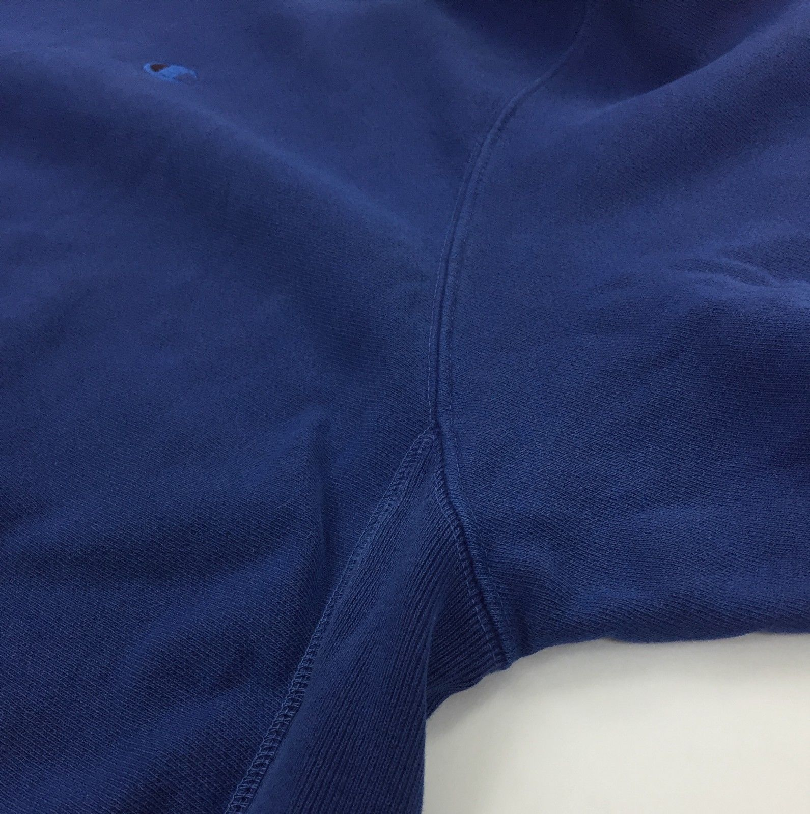 New Champion Reverse Weave Hoodie Size 3XL Big Tall Blue Pigment Dye Logo