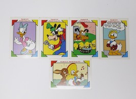 Impel Mickey Mouse Club Family Portraits Walt Disney Trading Cards - 5 C... - $8.54