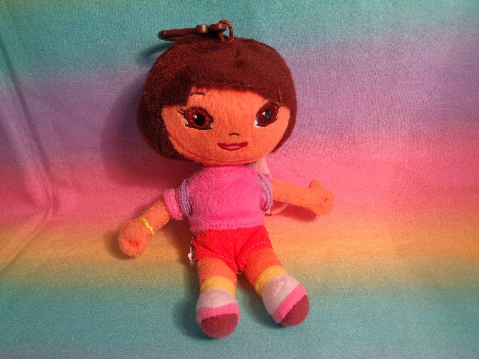 Nickelodeon Dora The Explorer Mini Plush Doll w/ Backpack Clip - AS IS