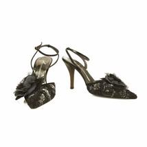 Giuseppe Zanotti Black Suede Sequined Pointed Toe Pumps Slingback Heels ... - €136,14 EUR