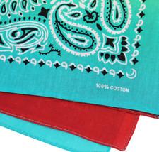 "12 Pack Gradient Rainbow Cotton Head Wrap Scarf Bandana Ombre Colors 22"" X 22"" image 11"