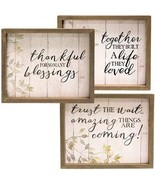 WooD SiGN BLESSINGS WooD Box ShaBBy ChiC FarmHouSe Rustic HoMe DeCoR SiG... - $29.00