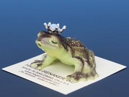 Birthstone Frog Prince Kissing October Opal Miniatures by Hagen-Renaker