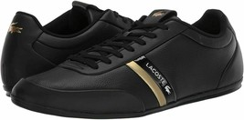 Lacoste Men's Premium Leather Athletic Sport Storda 120 CMA Sneakers Shoes Black