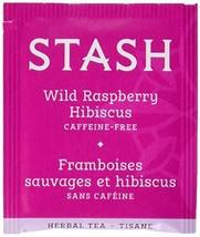 Stash Tea Wild Raspberry Hibiscus Herbal Tea 100 Count Box of Tea Bags i... - $20.03