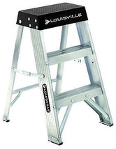 2-Ft. Step Ladder, Aluminum, Type IA, 300-Lb. Duty Rating - $48.50