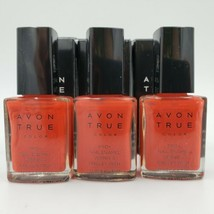 Lot of 3 Avon True Color Pro Nail Enamel Red Red. Free Shipping  - $9.49