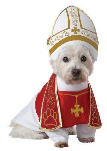 California Costumes Santo Hound Papa Cattolico Animale Domestico Cane Halloween