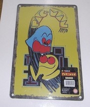 Pac Man New Factory Sealed Tin Sign 12in. X 8in. - $13.46