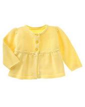 Rainy Day Fun 2008 Gymboree NWT Yellow Crochet Sweater 6- 12  mos.  - $12.80