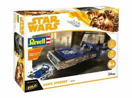 NEW Revell 1/28 Build & Play Han's Speeder Model Kit 85-1677 HAN SOLO MO... - $11.87