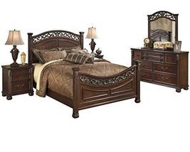 Ashley Leahlyn 5PC Bedroom Set Cal King Panel - Brown - $2,310.19