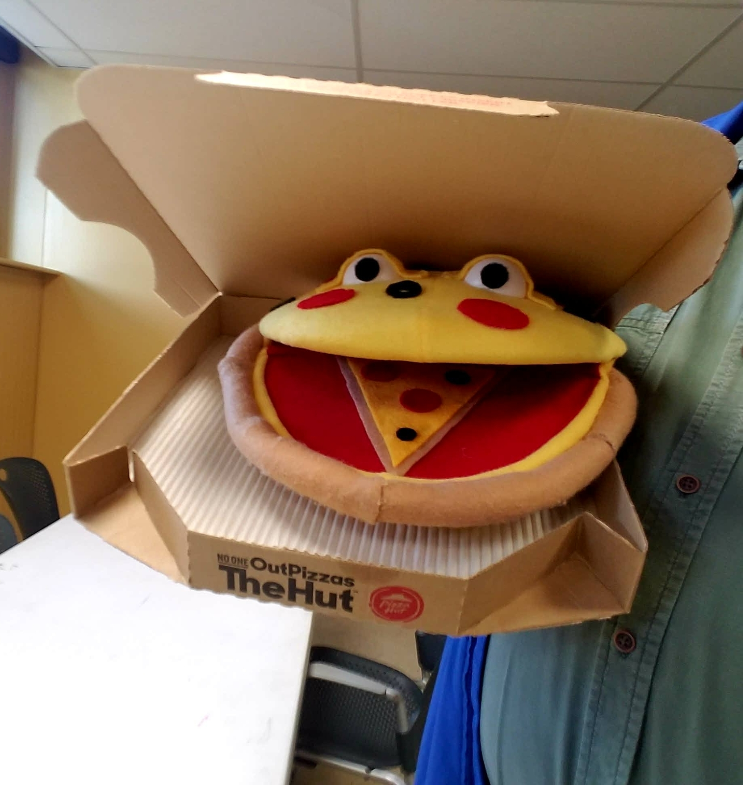 "MADE TO ORDER: Professional ""Talking Pizza"" Muppet Style Ventriloquist Puppet"