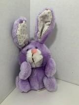 Russ Berrie Brucie vintage small plush purple bunny rabbit Easter stuffe... - $9.89