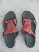 Women's Brown Sandals Size 8 Merrell Leather  - $23.75