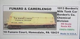 Funaro & Camerlengo HO Borden's Milk Tank Car Chemical Division Kit  1013 image 1