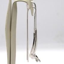 Boucles D'Oreilles Pendantes or Blanc 750 18K, Double, Spirale, Courbe, Made En image 2