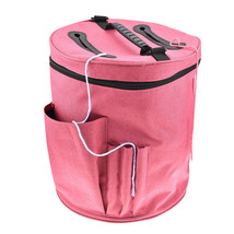 Knitting Yarn Storage Bag Tote Large Round Zipper Crochet Drum Basket Ho... - $21.74