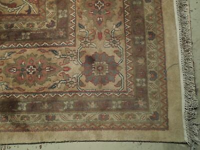 12x15 Light Gold Jaipur Wool Handmade Soft New Indian Rug image 7