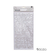 American Crafts™ Thickers™ 3D Sprinkles White Glitter Alphabet Stickers - $15.23