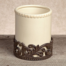 GG Collection Cream Ceramic Utensil Holder with... - $95.32
