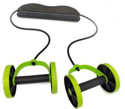 AB Wheels Roller Stretch Elastic Abdominal Resistance - £33.52 GBP
