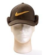 Nike Swoosh Brown Wool Blend Cuffed Earcover Baseball Cap Boy's Youth 8-... - $29.69