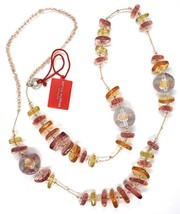 Necklace Antique Murrina, CO714A99, Pink, 90 cm, Squares Spheres, Glass Murano image 2
