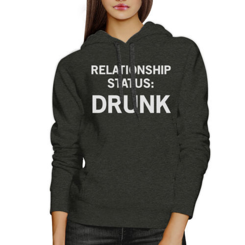 Relationship Status Unisex Dark Grey Fleece Hoodie Humorous Graphic