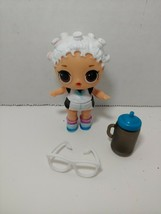 LOL Surprise Fresh doll w/ glasses white blue glitter outfit - $9.89