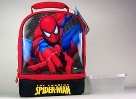 SPIDERMAN LUNCHBOX/COOLER plus sandwich box and CHILL PACK CANTEEN - $28.29