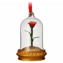 Enchanted Rose Light-Up Sketchbook Disney Beauty Beast Ornament. Brand New  - $22.22
