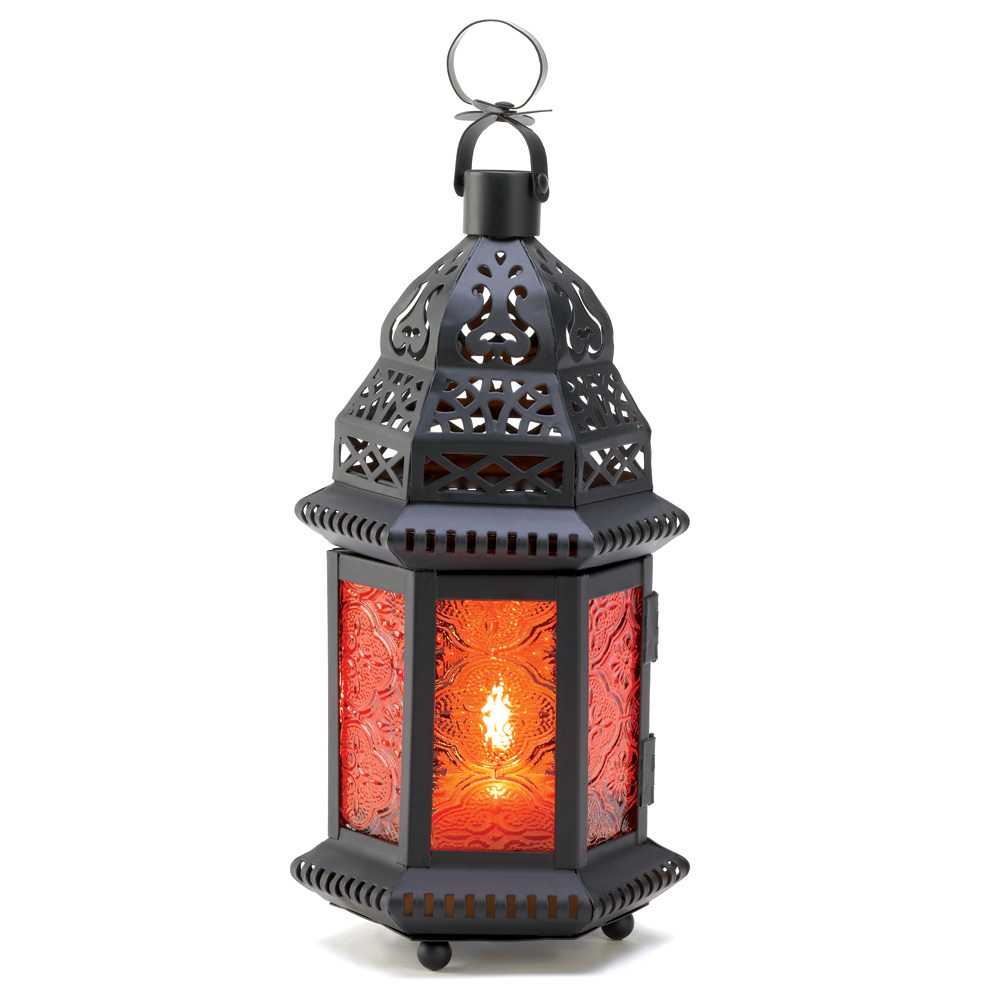 Amber Moroccan Candle Lantern 10001058