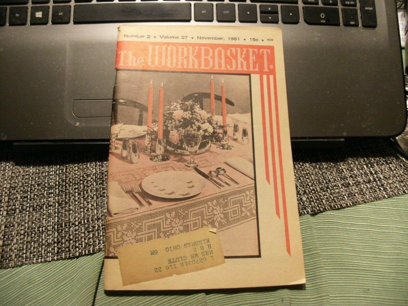 3# Vintage The Workbasket Knit/Crochet and Craft Magazine November, 1961 - $5.93