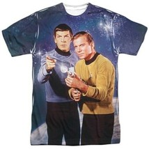 Star Trek Protectors Kirk and Spock Sublimation Front and Back Print T-S... - $29.02+