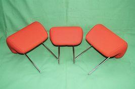 10-13 Kia Soul Rear Back Cloth 3 Headrests Headrest Set RED image 6