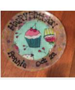 """Happy Birthday Custom  Personalized Decoupaged 7"""" Glass Plate - $10.99"""