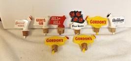 Vintage  Pourer Advertising Stoppers Liquor Bottle Toppers / Gordon's ++++ - $16.73