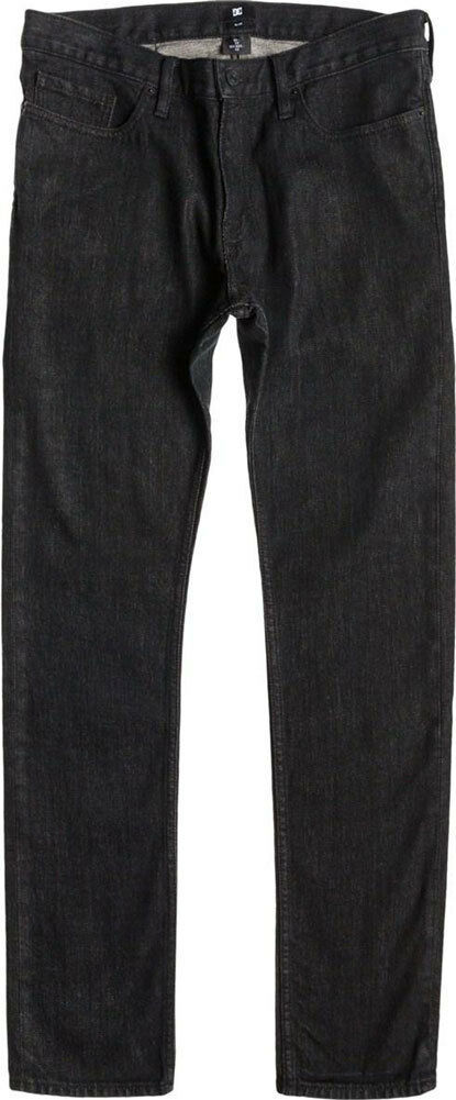 DC Shoes Herren Schwarz Arbeiter Slim Fit Jeans Nwt