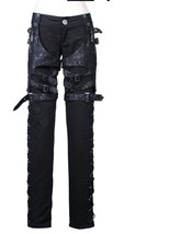 NEW PUNK Rave Gothic Heavy Metal Black Unisex Pants K109 FAST POSTAGE - $71.73