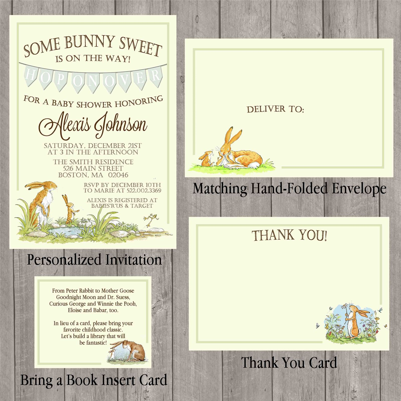 Guess how much i love you baby shower and 50 similar items guess how much i love you baby shower invitation set thank you insert card filmwisefo Image collections